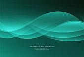 Abstract glowing wave background. Modern simple overlap flowing wave creative design. Suit for cover, poster, website, brochure, banner, presentation, flyer. Vector illustration