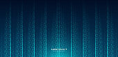 Abstract technology lines background with blue glowing dots. Hi-tech digital technology innovation concept. Modern texture creative design. Suit for poster, cover, banner, flyer, website