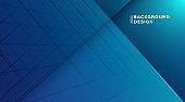 Abstract diagonal overlap blue lines background. Modern simple gradient texture design. Suit for cover, poster, website, brochure, flyer, banner, presentation. Vector illustration