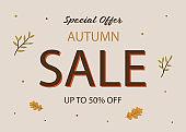 Autumn Sale Card Template.
