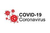Coronavirus disease named COVID-19. Icon logo dangerous virus vector illustration.