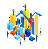 Business people work together as one team, the way to success, economy growth, financial advising and business support idea