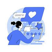 Customer feedback abstract concept vector illustration.