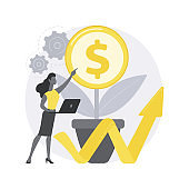 Sustainable business abstract concept vector illustration.