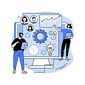 Enterprise architecture abstract concept vector illustration.