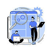 User research abstract concept vector illustration.