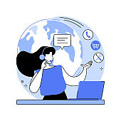Customer care abstract concept vector illustration.