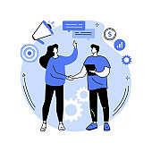 Relationship marketing abstract concept vector illustration.
