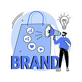 Brand awareness abstract concept vector illustration.