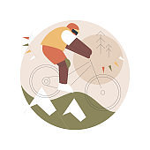 Downhill abstract concept vector illustration.