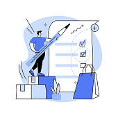 My orders list abstract concept vector illustration.