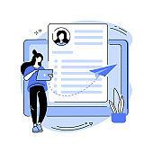 Send your CV abstract concept vector illustration.