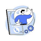 Custom service abstract concept vector illustration.