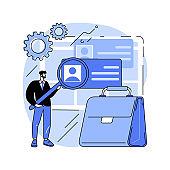 Employers abstract concept vector illustration.