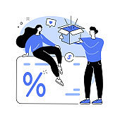 Promotion strategy abstract concept vector illustration.