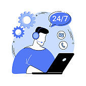 Customer support abstract concept vector illustration.