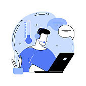 Cold calling abstract concept vector illustration.