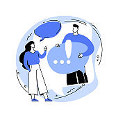 Discussion abstract concept vector illustration.