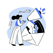 Newsletter abstract concept vector illustration.