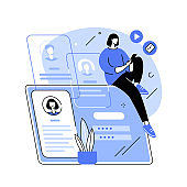 Registration abstract concept vector illustration.