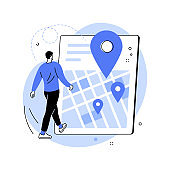 Get directions abstract concept vector illustration.