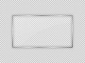 Glass plate in rectangular frame