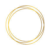 Gold geometric polygonal frame