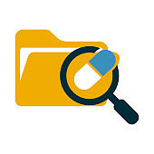 Folder, archive icon, on a white background, vector illustration