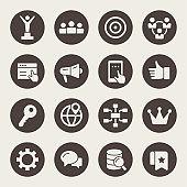 Internet marketing vector icons