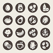 Dieting vector icons