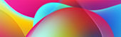 Colorful neon flowing liquid waves abstract background