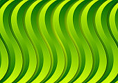 Abstract corporate green material waves vector background