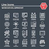 Web Development Line Icon Set