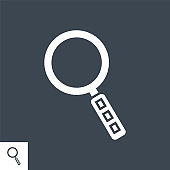 Search Vector Glyph Icon