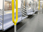 Banisters in subway