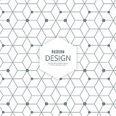 polygon background with hexagons lines dots