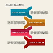 colorful infographic steps template
