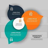 steps colorful infographic design for data visualization and workflow diagrams