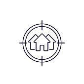 house search, real estate vector line icon