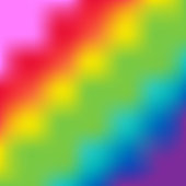 Abstract multicolor tie dye background. Rainbow LGBT colors. Square format. Vector illustration, flat design