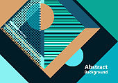 Abstract poster with geometric shapes. Modern background. Trendy graphic elements for your unique design. Vector