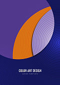 Bright colorful cut parts of a circle. Modern abstract background. Design layout for business presentations, flyers, posters and invitations. Vector