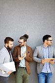 Technology network business teamwork friendship entrepreneur partnership communication concept