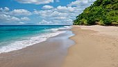 A beautiful generic tropical beach on the north coast of Occidental Mindoro province in the Philippines.