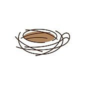 nest coffee vector icon illustration