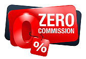 Zero commission and interest free isolated banner