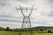Large electricity pylon
