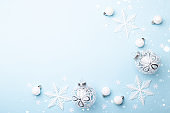 White glass decorative Christmas or New year ornaments