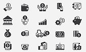 Money Icons - Big Series stock illustration Currency, Coin, Finance, Paper Currency, Icon set