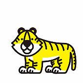 Tiger Character Illustration